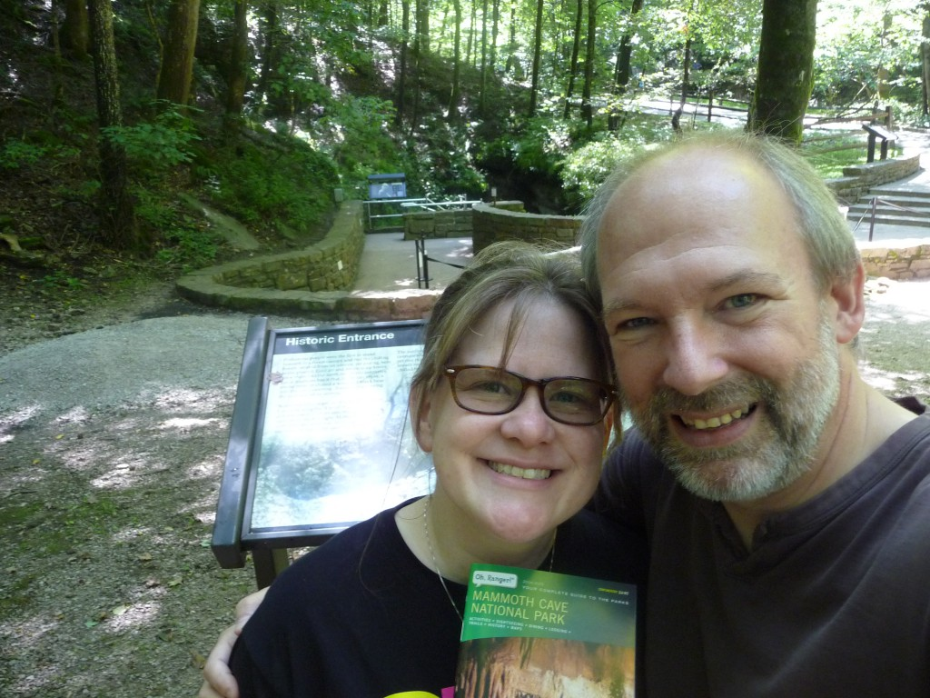 Us at the Historic Entrance to Mammoth Cave, July 2015