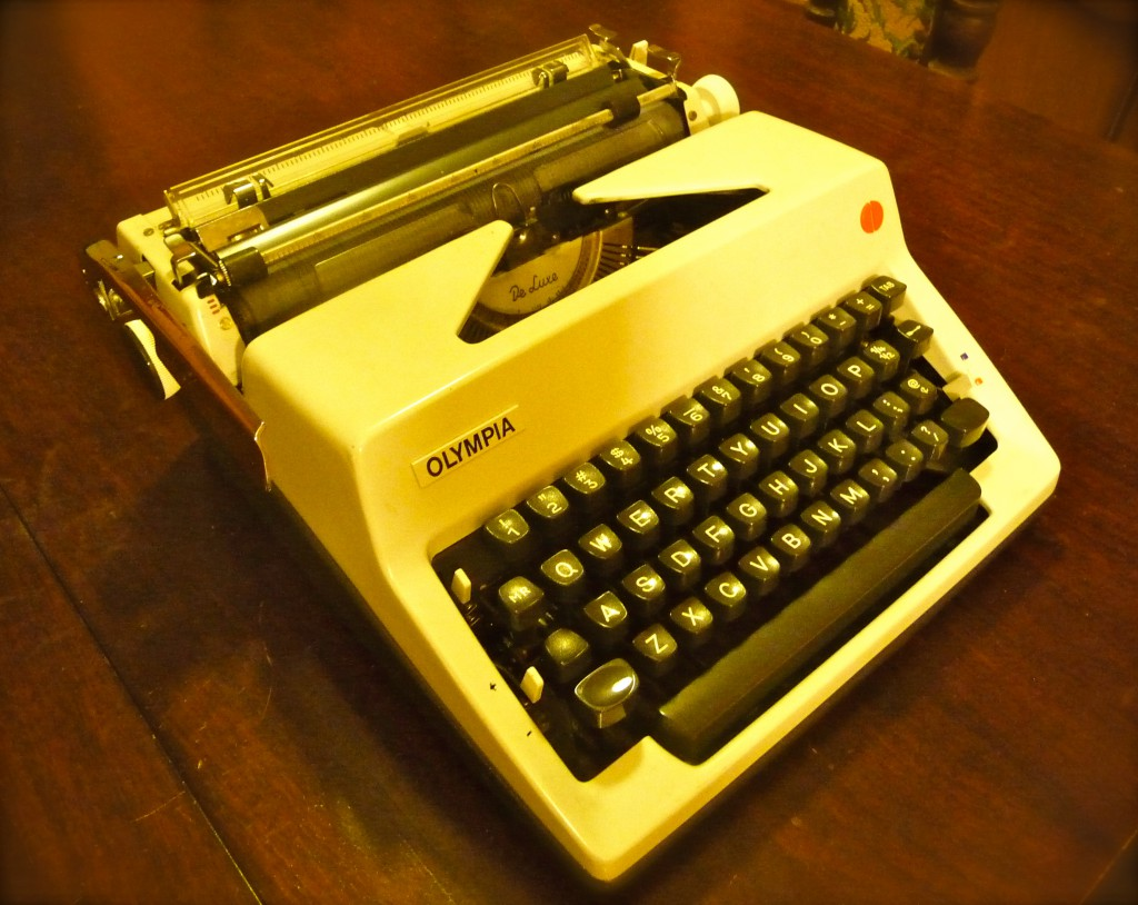 Last but not least, the Olympia SM9 -- truly a writer's typewriter!
