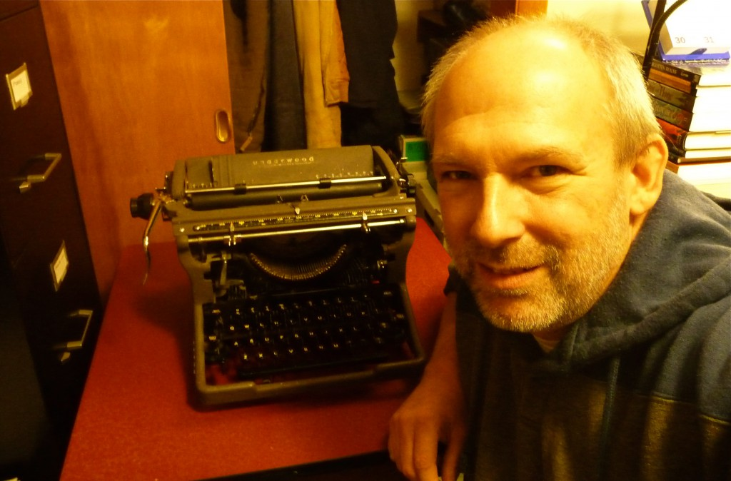 A happy typist