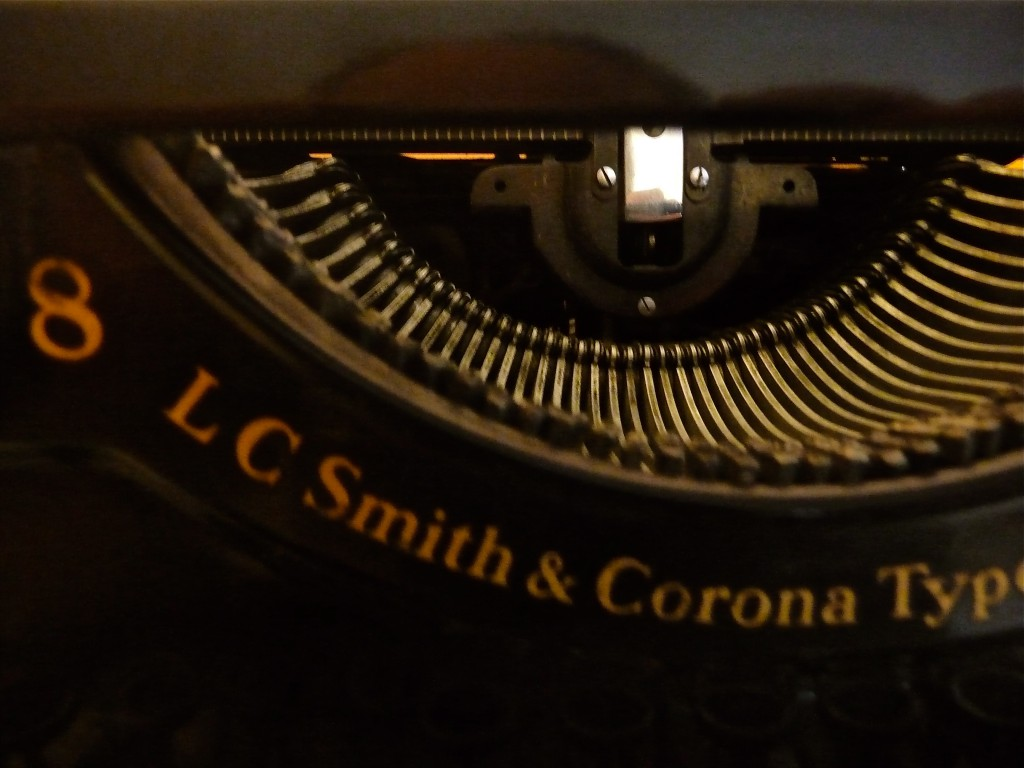 The typewriter's knowing grin