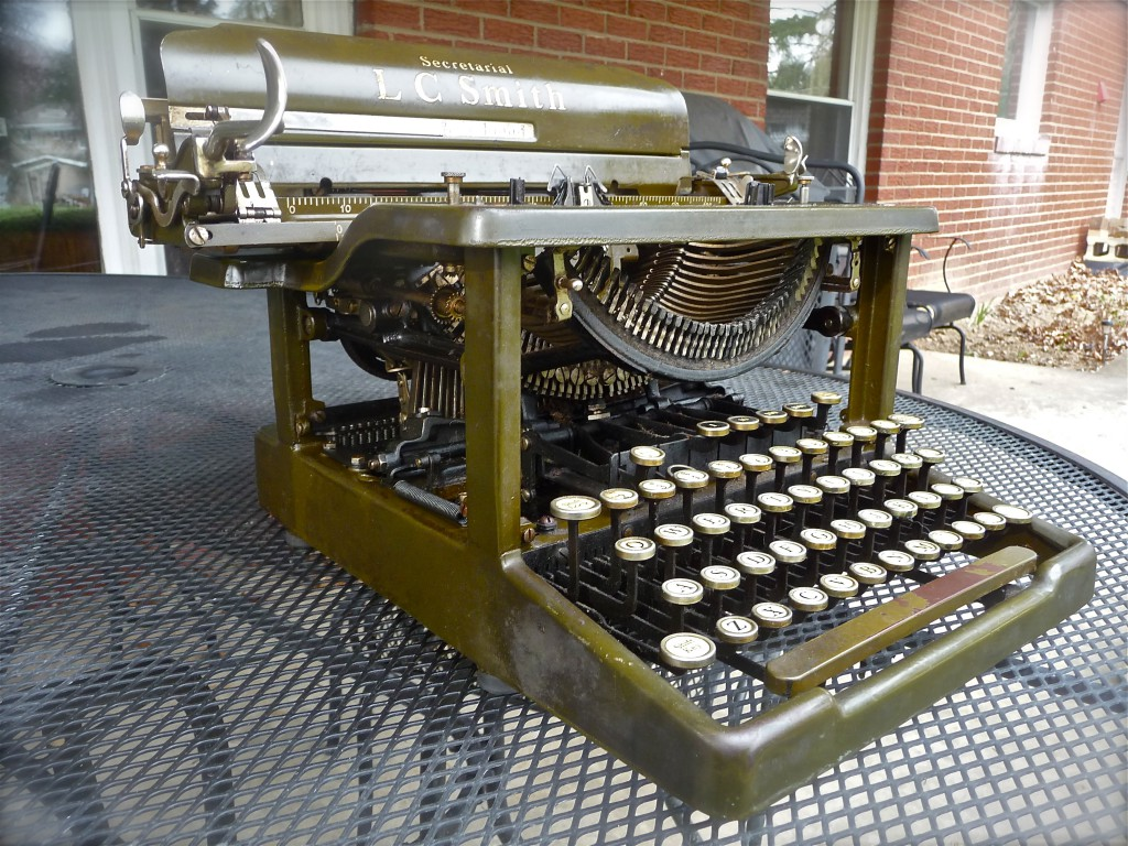 L. C. Smith 8 12, 1930: the oldest typewriter in my collection